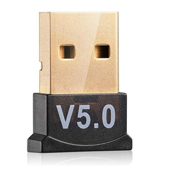Richvolt Bluetooth Dongle, Wireless USB 5.0 Bluetooth Dongle Adapter, Bluetooth Transmitter Receiver for Laptop PC