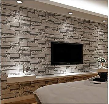 Tapete Muralstacked 3D des Ziegelsteines 3D Stein-Tapete ...