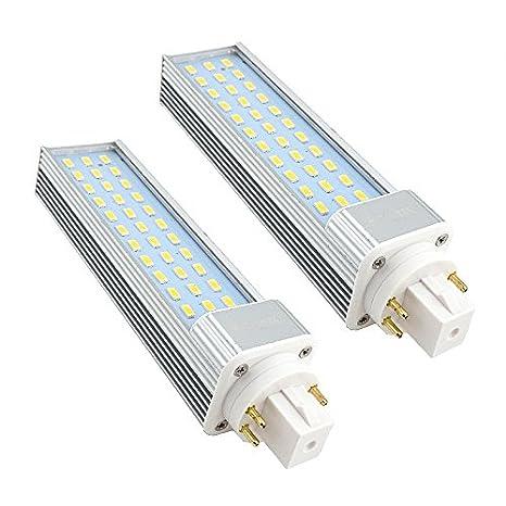 Bonlux 2-Pack LED GX24Q 4-pin Rotatable PL Lamp, 26W GX24 CFL