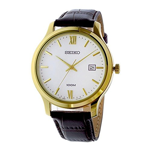 (Seiko Men's Analogue Quartz Watch with Leather Strap SUR226P1)