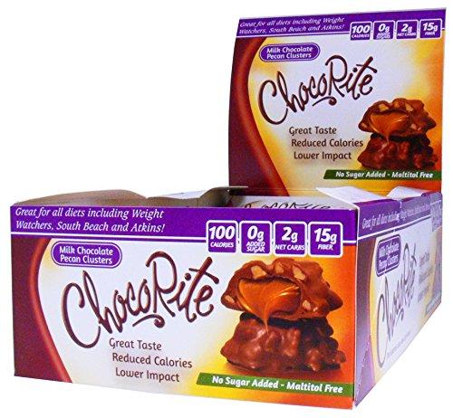 Pecan Free Candy Sugar - ChocoRite ChocoRite Pecan Cluster, 18 Ounce