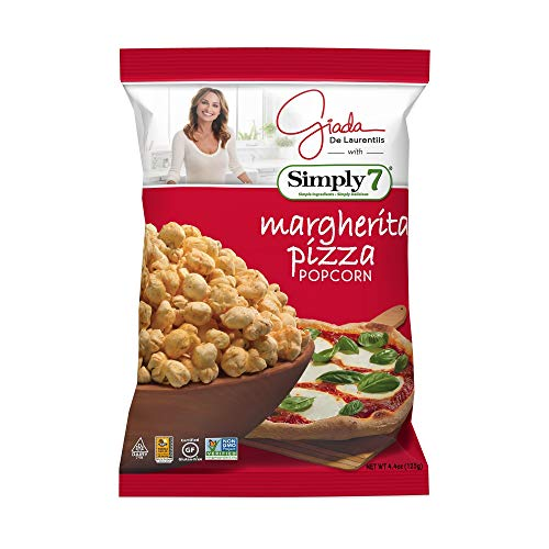 Simply 7 with Giada Popcorn, Margherita Pizza, 4.4 Ounce, 12 Count