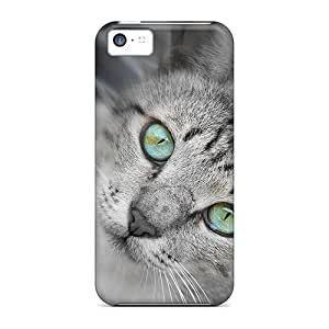 First-class Case Cover For Iphone 5c Dual Protection Cover Gorgeous Cat Eyes