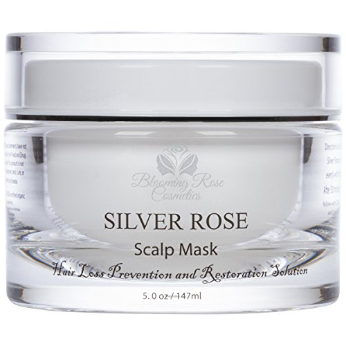 SILVER ROSE, SCALP MASK, HAIR LOSS PREVENTION AND RESTORATION SOLUTION 100% NATURAL HAIR LOSS TREATMENT FOR MEN AND WOMEN by Blooming Rose Cosmetics