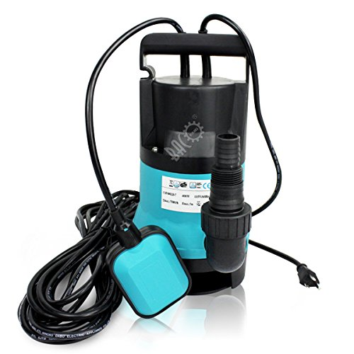 BACOENG 1/2HP Clean/Dirty Water Submersible Sump Pump 2000GPH w/ 33FT Cable by BACOENG