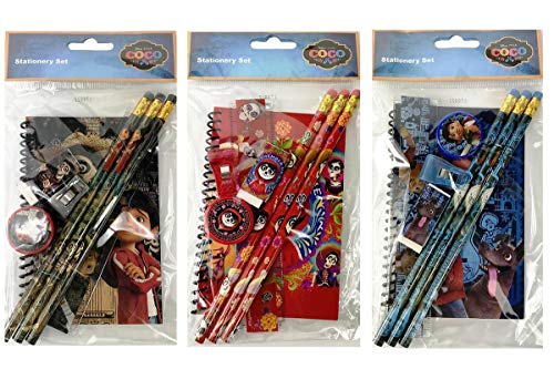 12 Stationery Set Disney Coco Birthday School Party Favors Bag Filler- 3 Style Mix
