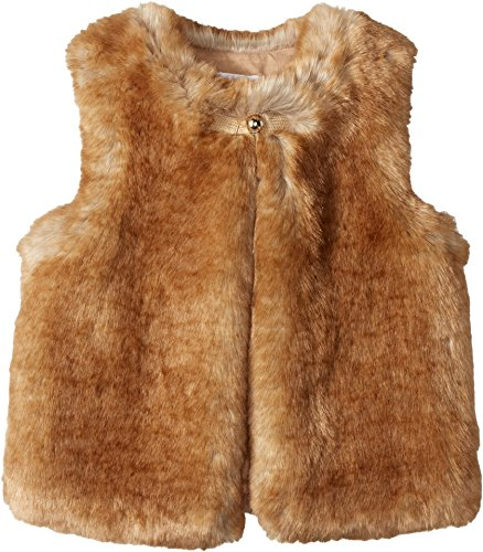 Chloe Kids Girl's Sleeveless Faux Fur Vest (Little Kids/Big Kids) Nude Outerwear by Chloe