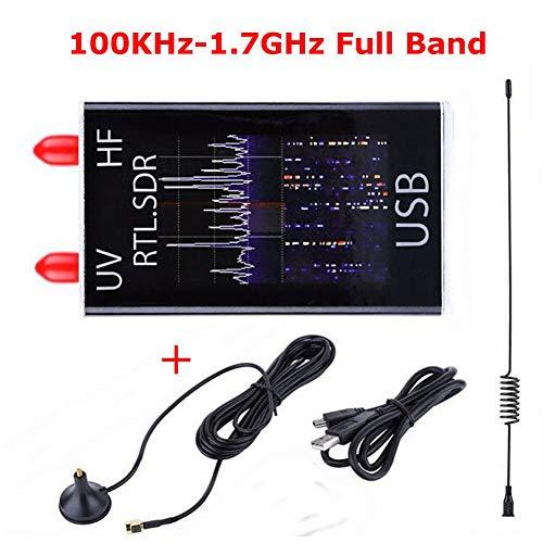 MeterMall Hot for 100KHz-1.7GHz Full Band UV HF RTL-SDR USB Tuner Receiver/ R820T+8232 Ham Radio