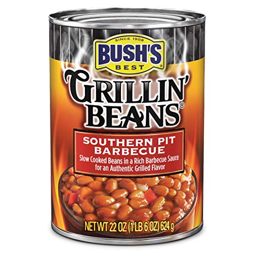 BUSH'S BEST Southern Pit Barbecue Grillin' Beans, 22 Ounce Can (Pack of 12)