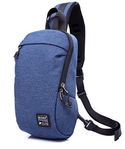 Magictodoor Sling Bag Water Resistant Outdoor Shoulder Chest Crossbody Street/Travel Backpack Multipurpose Daypack Blue 99010.blue (Reversible Sling)