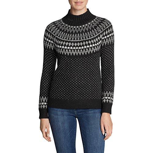 Eddie Bauer Women's Arctic Fair Isle Sweater, Charcoal - Isle Sweater