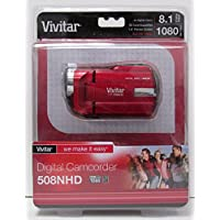 Vivitar DVR-508 High Definition Digital Video Camcorder, Colors May Vary w/ Memory Card