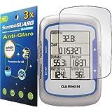 3x Garmin Edge 500 200 Bike GPS Premium Anti-Glare Anti-Fingerprint Matte Finishing LCD Screen Protector Cover Guard Shield Protective Film Kits (Package by GUARMOR)
