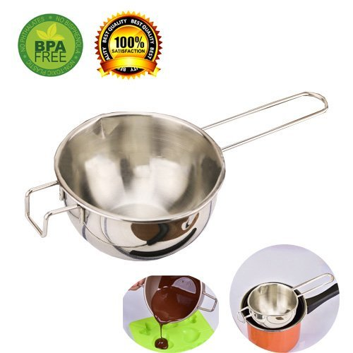 Double Boiler Pots for Chocolate Melting, Double Boiler Pots for Candle, Double Boiler Pot Stainless Steel for Soap Making, Chocolates Universal Melting Pot (mid)