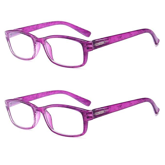 97bff7c089 DGHFBD Unisex Moda Gafas de lectura 2 paquetes Retro Bisagra de primavera Gafas  Lectura +1.0 a 4.0: Amazon.es: Ropa y accesorios