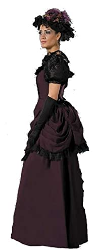 Victorian Costumes: Dresses, Saloon Girls, Southern Belle, Witch Womens Purple Victorian Emma Dress Theatrical Costume $259.99 AT vintagedancer.com