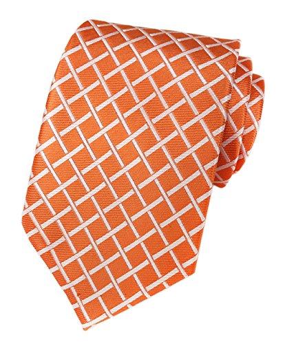orange black and white dresses - 9