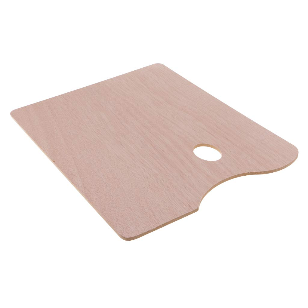 P Prettyia Artist//Student Painting Tools Wooden Rectangle Paint Tray Pigment Palette Art Palettes for Painting Craft 30x40cm Mixing Tray
