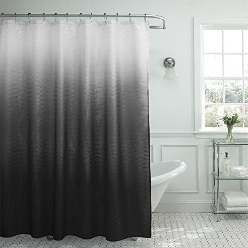 grey ombre shower curtain - 4