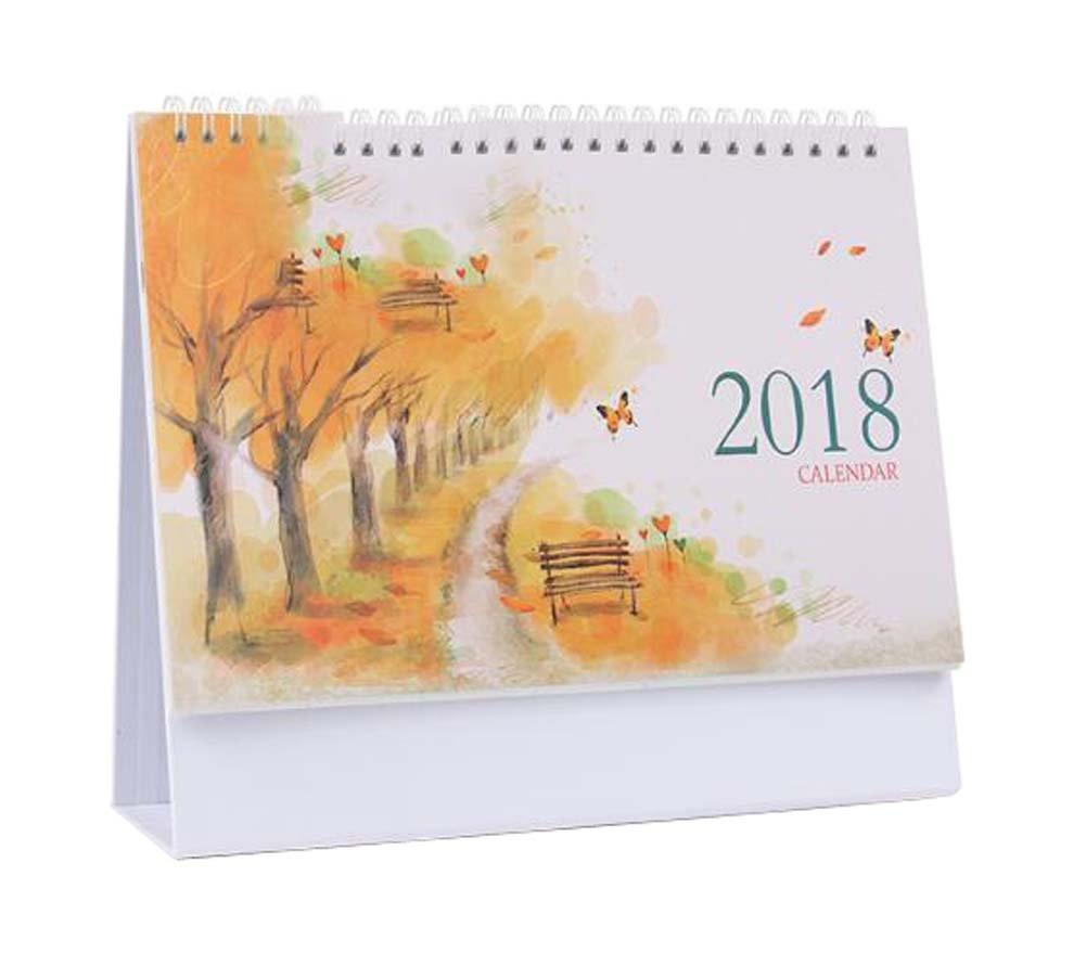 景色スタイル2018 Officeカレンダーノートブック/ Monthly、週単位、daily-autumn B07795HZZT