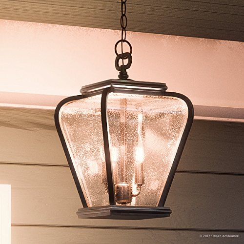 Luxury French Country Outdoor Pendant Light, Medium Size: 15.5