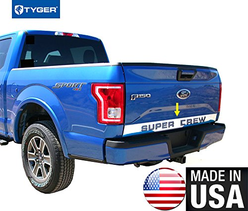 Trim Panel Tailgate (Tyger Auto Made In USA! TYGER Works With 2015-2016 Ford F150 Tailgate Panel Molding Accent Trim 4 1/2'' Wide 1PC)