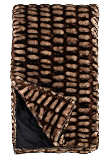 "Donna Salyers' Fabulous-Furs 60X86 Shadow Mink Faux Fur Throw, 60""x86"", -  DONNA SALYERS' FABULOUS FURS, 11012SHADO"