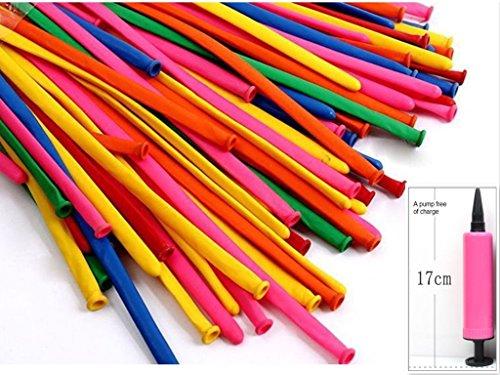 Kit 28 Pcs Match - king's store,300 PCS rainbow colored balloons, strip shape balloon magic balloon animals, sent free of charge pump