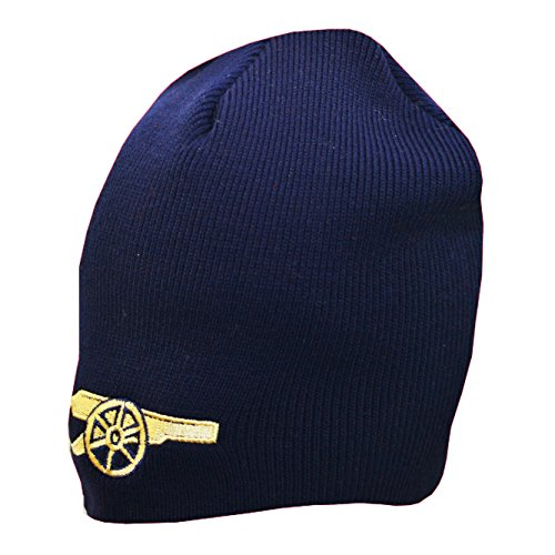 Arsenal FC Gunners Beanie – Knitted Hat – Gunners Bronx Beanie – Navy Blue with Crest On Front – Dome Knitted Hat – One Size Fits Most – Great For Any Arsenal FC Gunners Fan – Official Product – DiZiSports Store