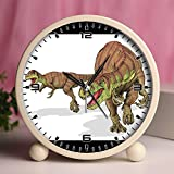Alarm Clock, Bedroom Tabletop Retro Portable Clocks with Nightlight Custom designs Dinosaurs 18_Afrovenator abakensis dinosaur