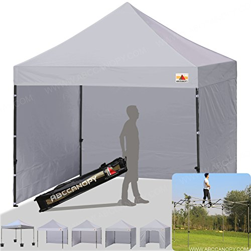 ABCCANOPY 18+colors 8ft by 8ft Ez Pop up Canopy Tent Commercial Instant Gazebos with 4 Removable Sides and Roller Bag and 4x Weight Bag (gray) Review