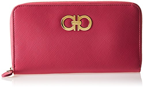 Icon Zip Around Wallet - Salvatore Ferragamo Salvatore Ferragamo Women's Gancio Zip Around 566119, Red, One Size