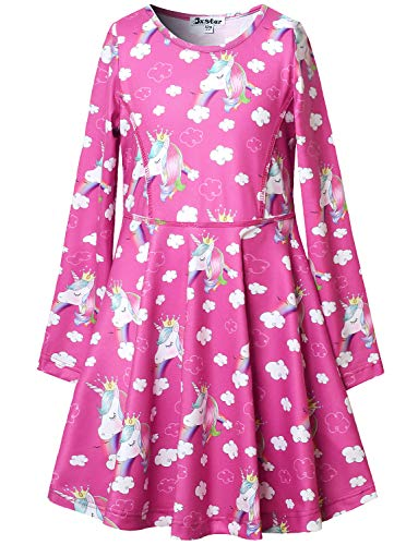 Unicorn Dresses for Girl Rainbow Unicorn Outfit Christmas Birthday Party Clothes -