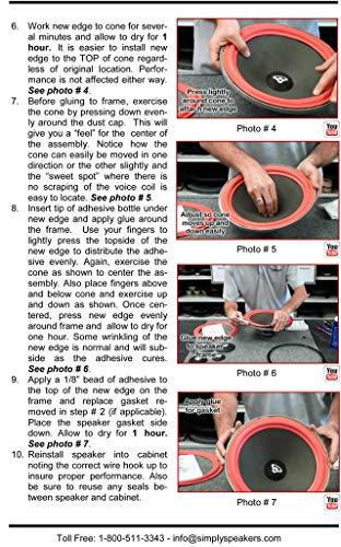 Cerwin Vega 15 Inch Foam Speaker Repair Kit FSK-15FR (Pair)