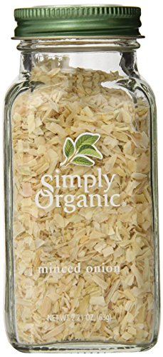 Simply Organic Onion, White Minced, Certified Organic, 2.21-Ounce Bottle