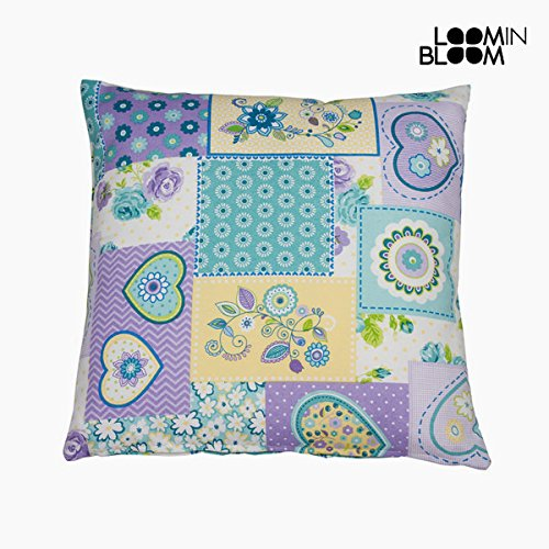 Cojín patchwork corazón lila by Loom In Bloom: Amazon.es: Hogar