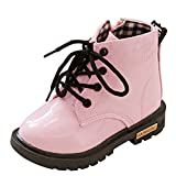 Fashion Kids Booots,Toddler Baby Boys Girls Soft Sole Comfy Outdoor Winter Thick Snow Shoes (Age:2-2.5 years old, Pink)