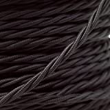 5 Meters 3 Core Black Cable Vintage Antique Braided Twisted Fabric Lighting Cable Woven Silk Flexible Wire Cord Light