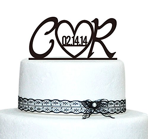 Buythrow Monogram Wedding Cake Topper,custom Initial in Any Letter a B C D E F G H I J K L M N O P Q R S T U V W X Y Z