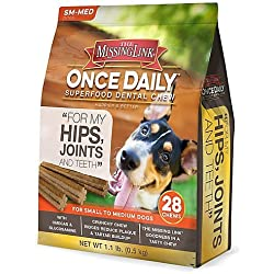 Missing Link Hip/Joint Dental Chews Small Dog 28ct
