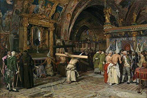 - Wall Art Print Entitled Penitents in The Lower Basilica of Assisi JIMÉNez by Celestial Images   48 x 32