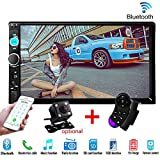 """Car Stereo Double Din Radio,7"""" Touchscreen in Dash Bluetooth MP5 Audio 1080P Video"""