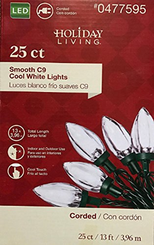 25 Led Smooth C9 String Lights in US - 7