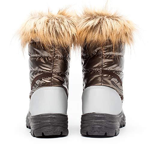 Douces Drka Chaudes Imperméables Chaussures Pour Temps Femme Bottes En De Et Froid D'hiver Isolantes À Brown928 Extérieur Caoutchouc Neige n1AY14vr