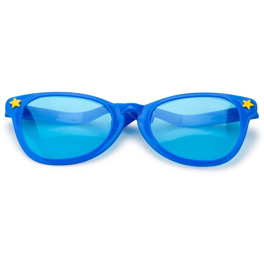 a7f809bfd05 Amazon.com  Pudgy Pedro s Blue Jumbo Sun Glasses Party Supplies  Toys    Games