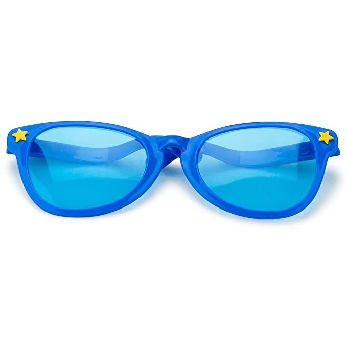 0a13203b4506 Amazon.com  Pudgy Pedro s Blue Jumbo Sun Glasses Party Supplies  Toys    Games