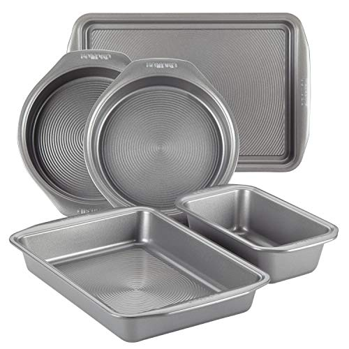Circulon Nonstick Bakeware 5-Piece Bakeware Set, Gray