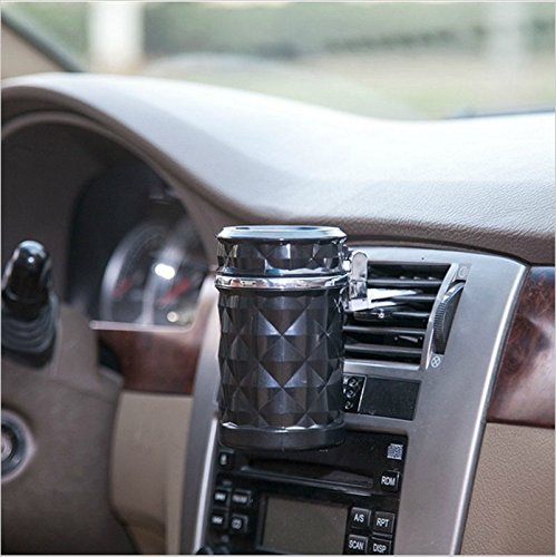 black auto accessories car ashtray smoke cigarette holder cup led light portable vehicles. Black Bedroom Furniture Sets. Home Design Ideas