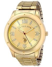 U.S. Polo Assn. Men's Oversized Bezel Dial Expansion Watch Gold USC80014