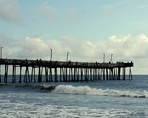 Coastal Photography Print, Virginia Beach Pier Boardwalk Picture, Large Wall Decor, Aqua Ocean Photo Print, 5x7, 8x10, 11x14, 12x16, 12x18, 16x24, - Ocean 10 Walk